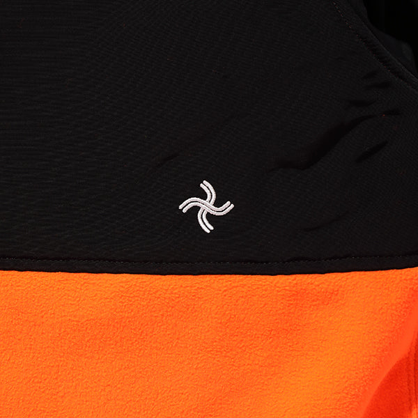 CHALLENGER -TECHNICAL FLEECE JACKET- ORANGExBLACK
