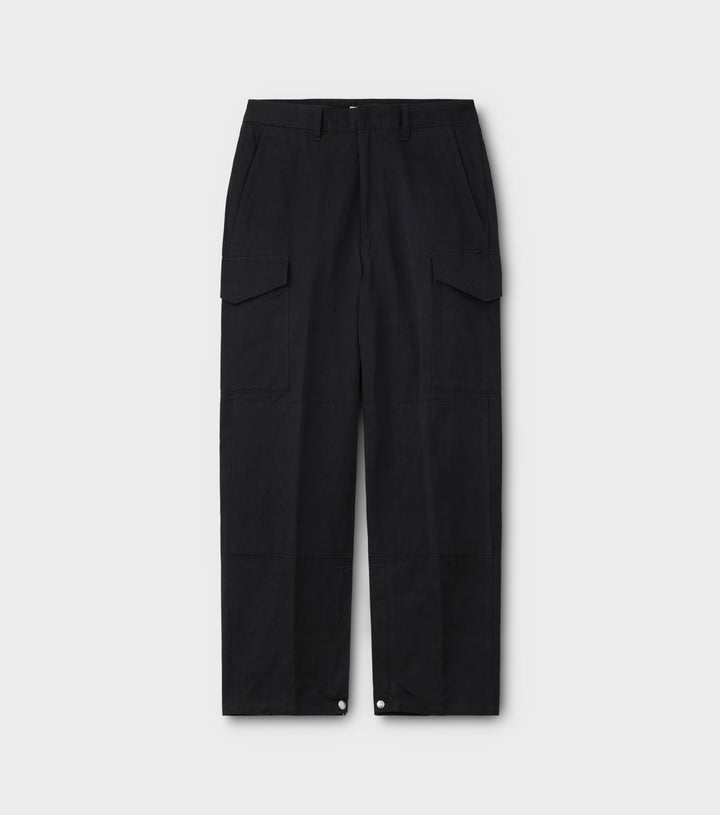 PHIGVEL -C/L CARGO TROUSERS- DUST BLACK