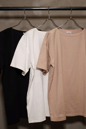 SOLARIS&Co. -BOATNECK TEE BOATMAN- INK BLACK