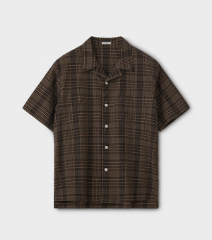 PHIGVEL -Seersucker Check SS Shirt- Beige check