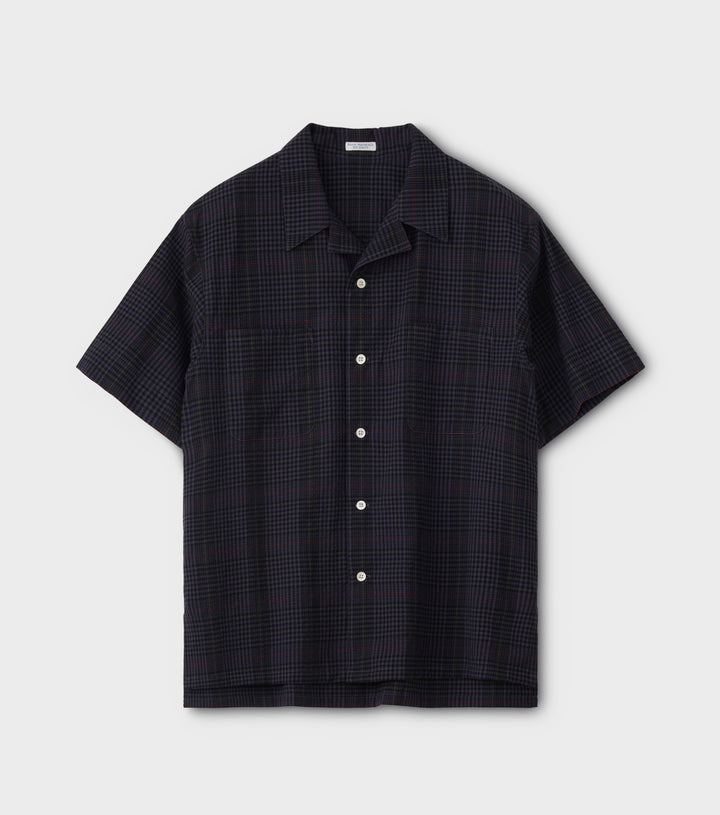PHIGVEL -Seersucker Check SS Shirt- Black Watch