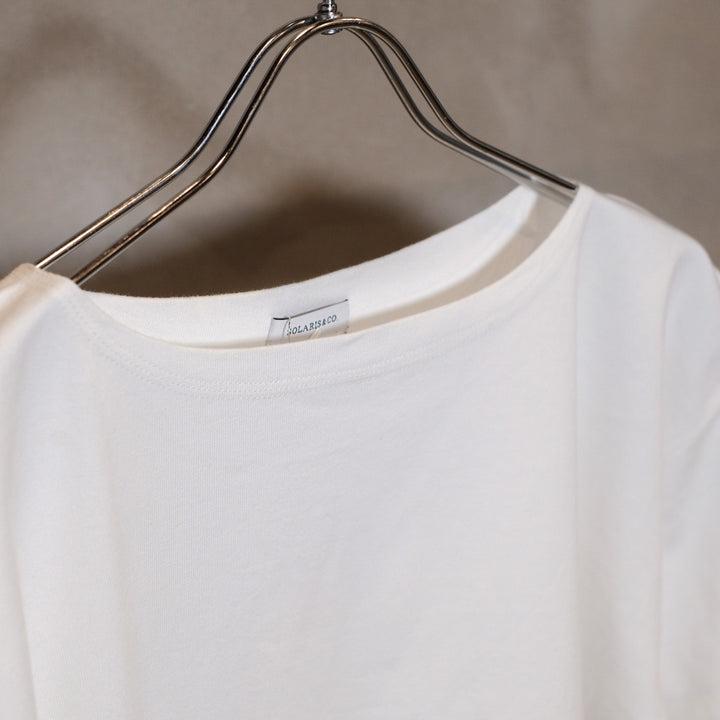 SOLARIS&Co. -BOATNECK TEE BOATMAN- WHITE