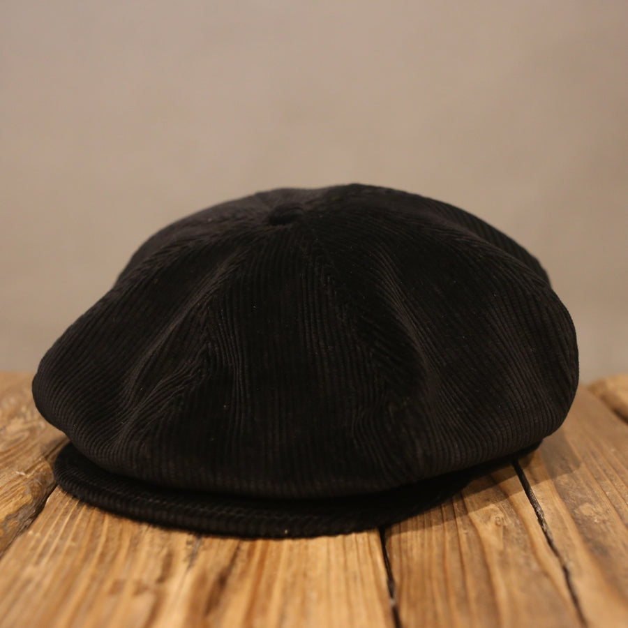 SOLARIS HATMAKERS & Co. -CORDUROY APPLE CASQUETTE- BLACK
