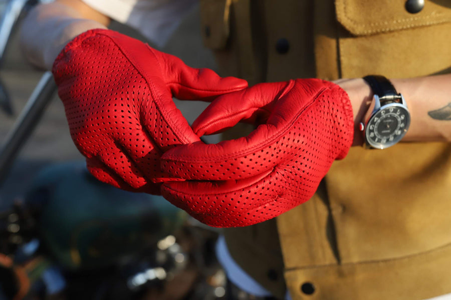 Lamp gloves -Punching glove- Red
