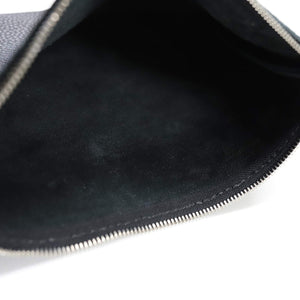 anemoscope -MINIMAL LEATHER POUCH(small)- BLACK
