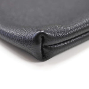 MASSTARD -MINIMAL LEATHER POUCH(small)- BLACK