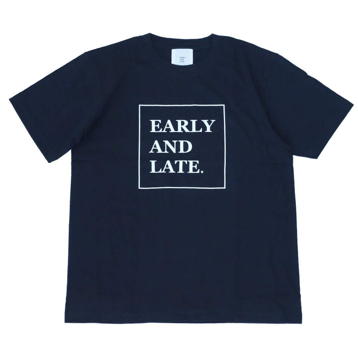 EARLY AND LATE -BOX LOGO TEE- BLACK