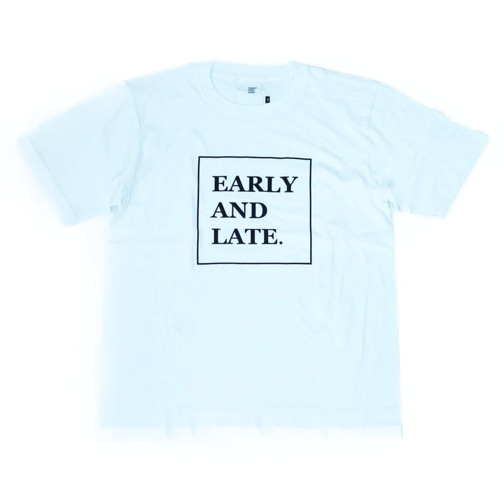 EARLY AND LATE -BOX LOGO TEE- WHITE