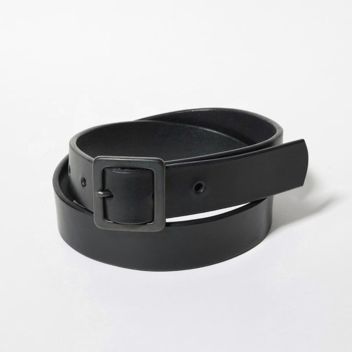 MASSTARD -SADLE LEATHER BELT- BLACK