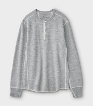PHIGVEL -THERMAL HENLEY TOP- TOP GRAY