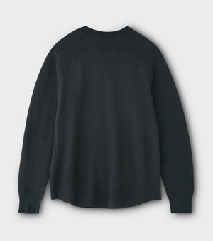 PHIGVEL -THERMAL HENLEY TOP- INK BLACK