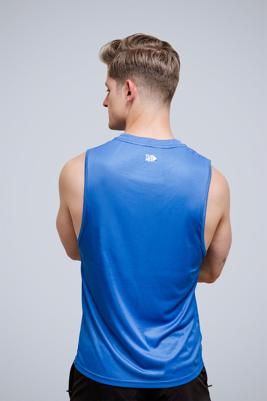 Men's FreedomFit Electric Blue Stencil Tank