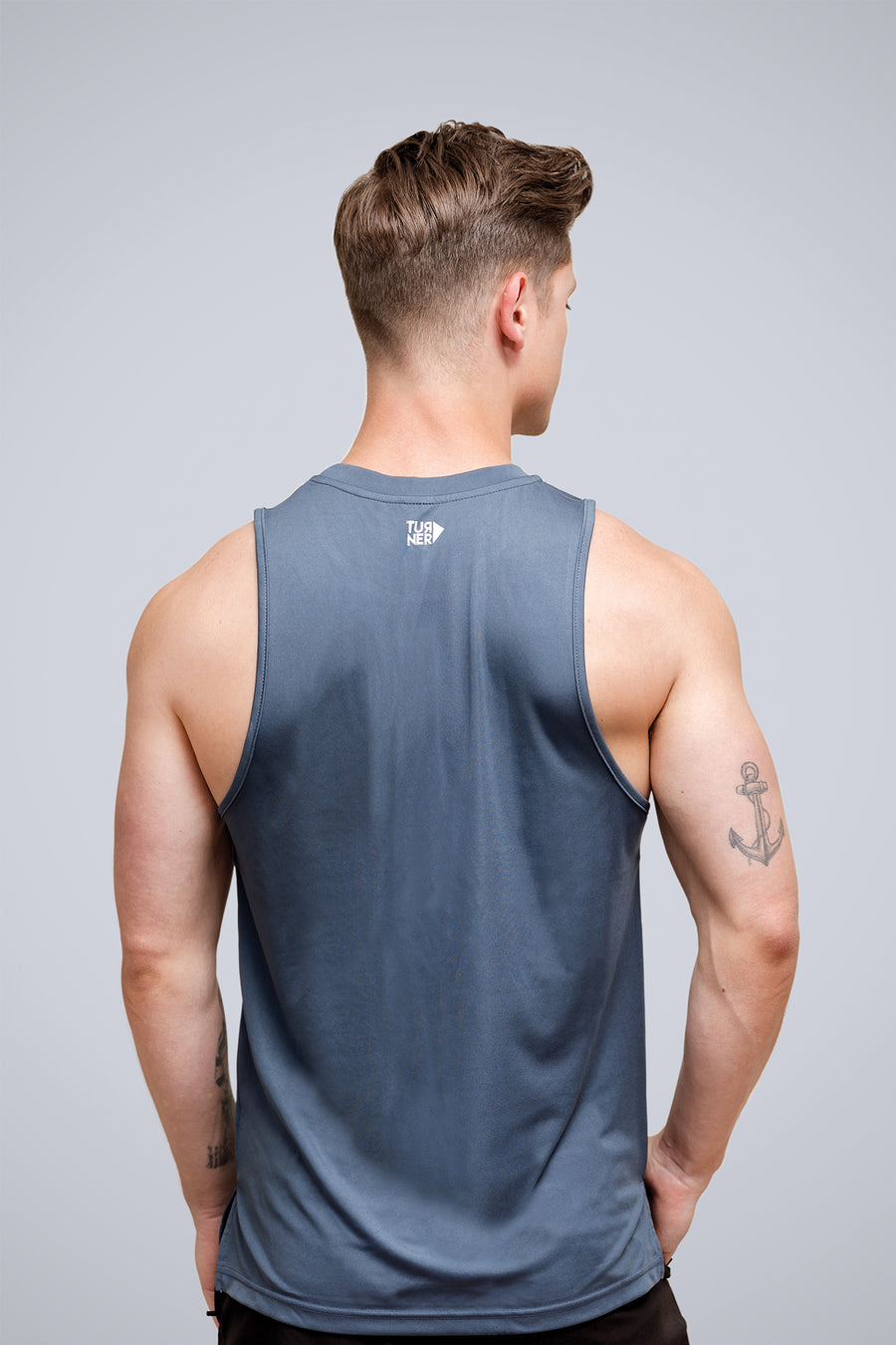 Men's FreedomFit Grey Stripe Tank