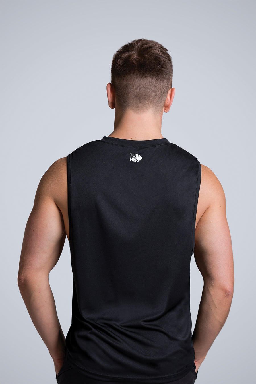 Men's FreedomFit Black Basic Tank