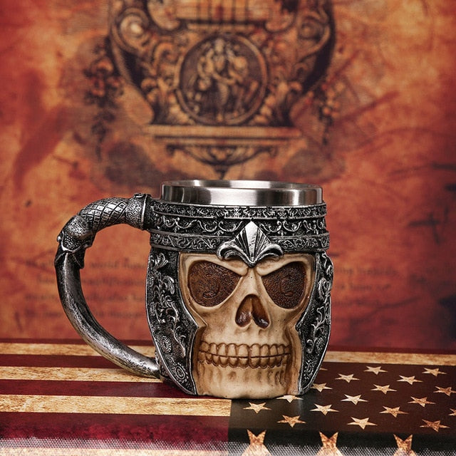 3D Axe Skeleton Coffee Cup