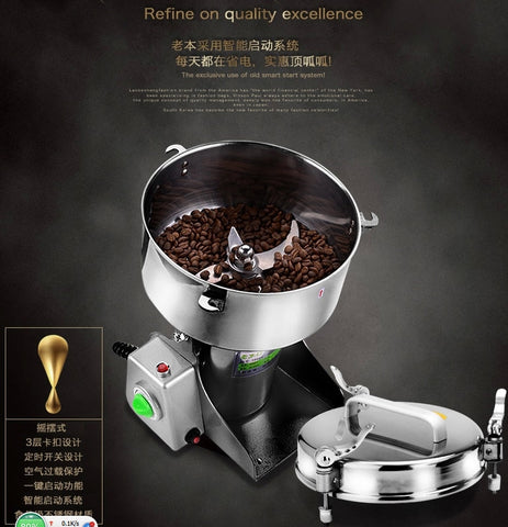Image of Electric Stainless Steel Mill Coffee Grinder