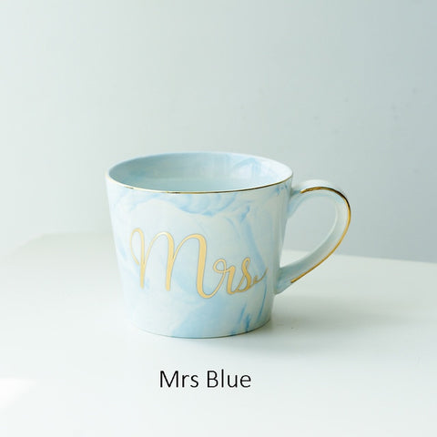 Image of Hand Painted Gold Coffee Cup