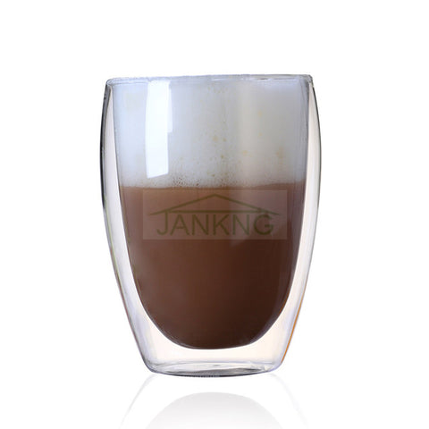 Image of Double Wall Glass Coffee Cup
