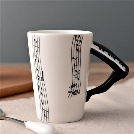 Image of Guitar Ceramic Coffee Cup