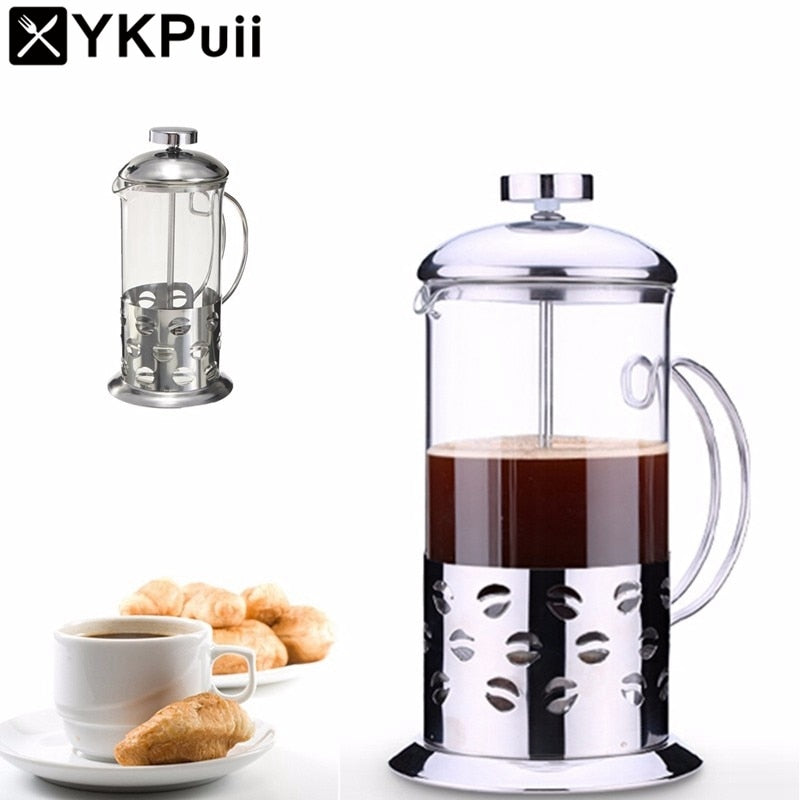 Stainless Steel Glass Coffee Plunger