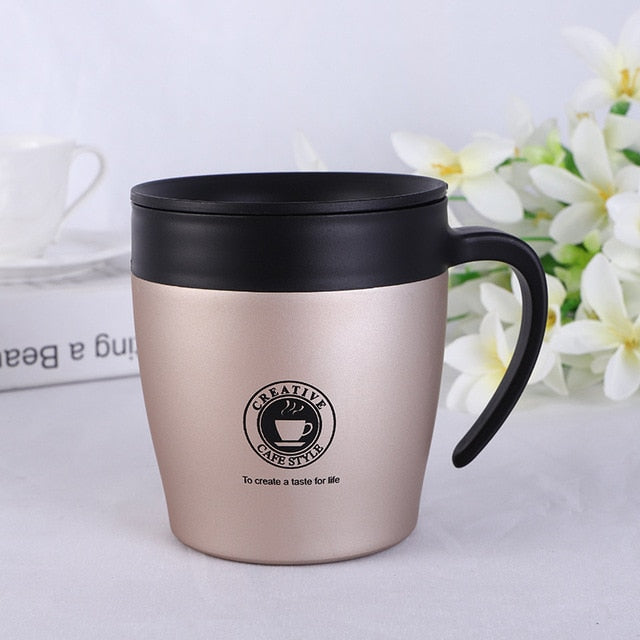 Stainless Steel With Lid Travel Coffee Mugs