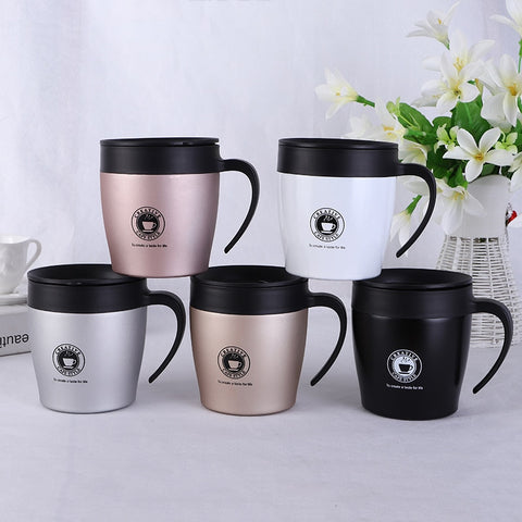 Image of Stainless Steel With Lid Travel Coffee Mugs