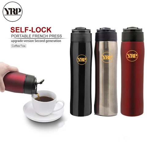 Image of Stainless Steel Portable Coffee Plunger