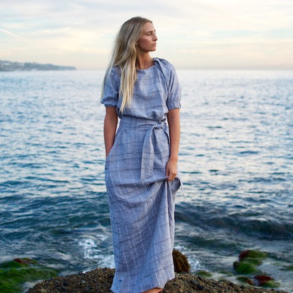 Sheridan Maxi Dress Sky Grey
