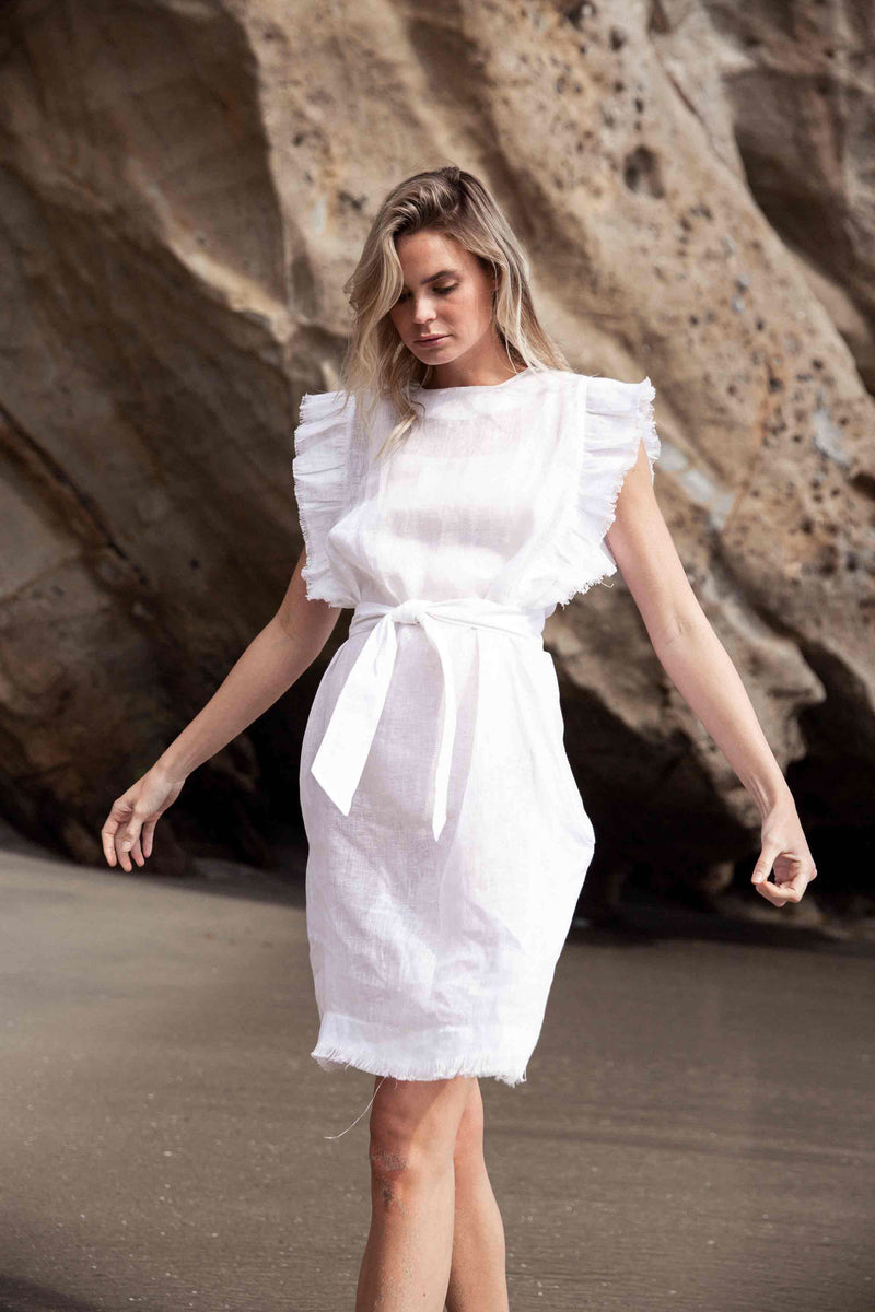 Ivy Lee Ruffle Summer White