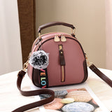 Women Shell Bag Portable Shoulder Bag Leather Elegant look