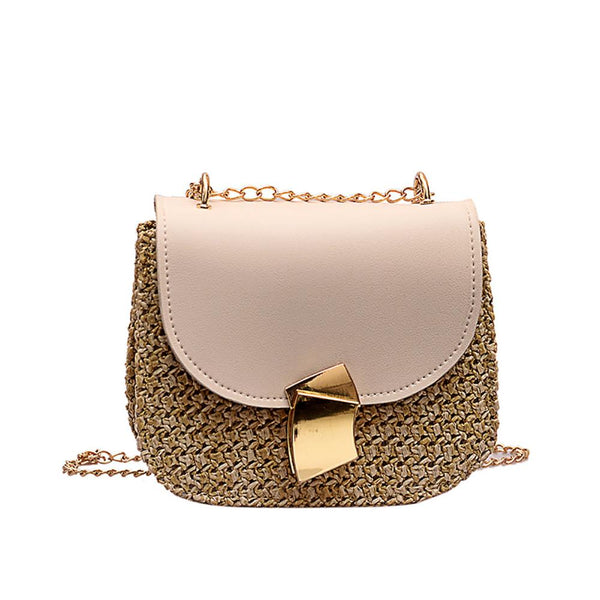 Women Rattan Wicker Straw Shoulder Bag Crossbody bags