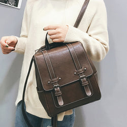 New Vintage Women Satchel Backpack High Quality Leather Bags