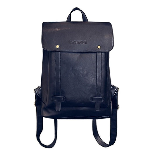 Leather Large Capacity Bag Laptop Travel Backpack Satchel