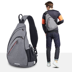 Men Women One Shoulder Backpack Sling Bag USB Cycling Sports Travel Bag
