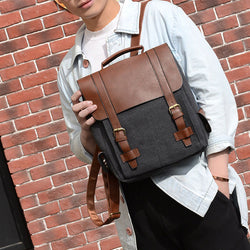 New Canvas Vintage Travel Bags Backpack Bookbags Satchel