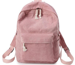 Preppy Style Soft School Backpack For Teenage Girls Striped Backpack Women