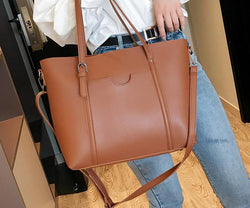 Leather Women Shoulder Bag  Messenger Bags Tote