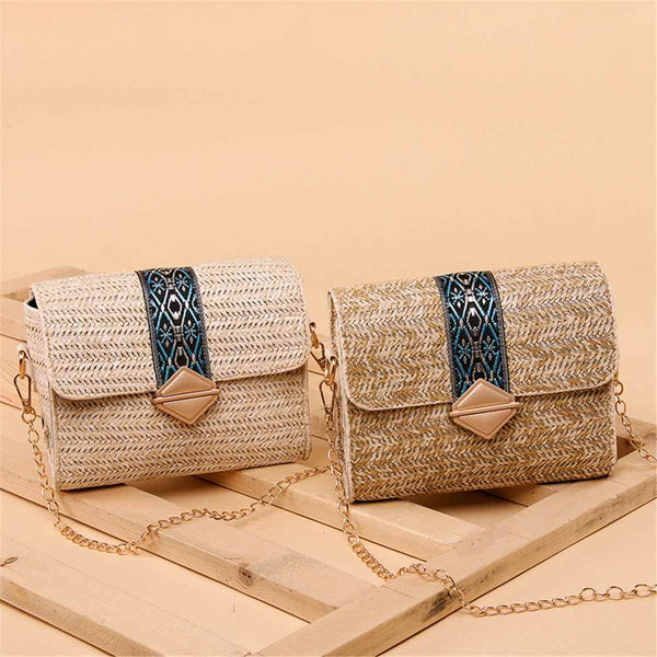Small Straw Bag Women Wicker Rattan Bags Cross body