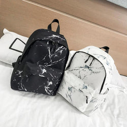Teenager Backpack Marble Stone Backpack Rucksack Peggy School Bag