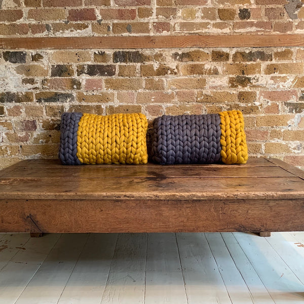 Two tone cushion