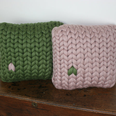 Statement stitch rectangular cushion