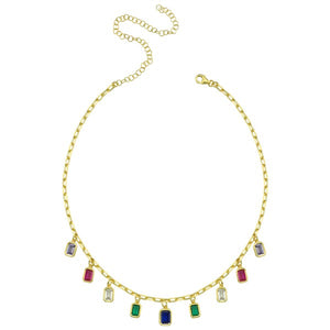 Necklace Atlanta Rainbow On Gold