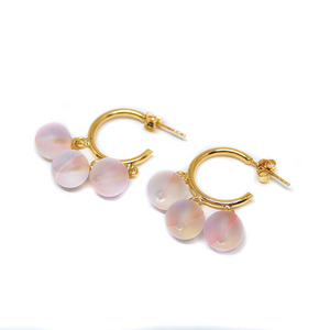 Earrings Psiche Rose On Gold
