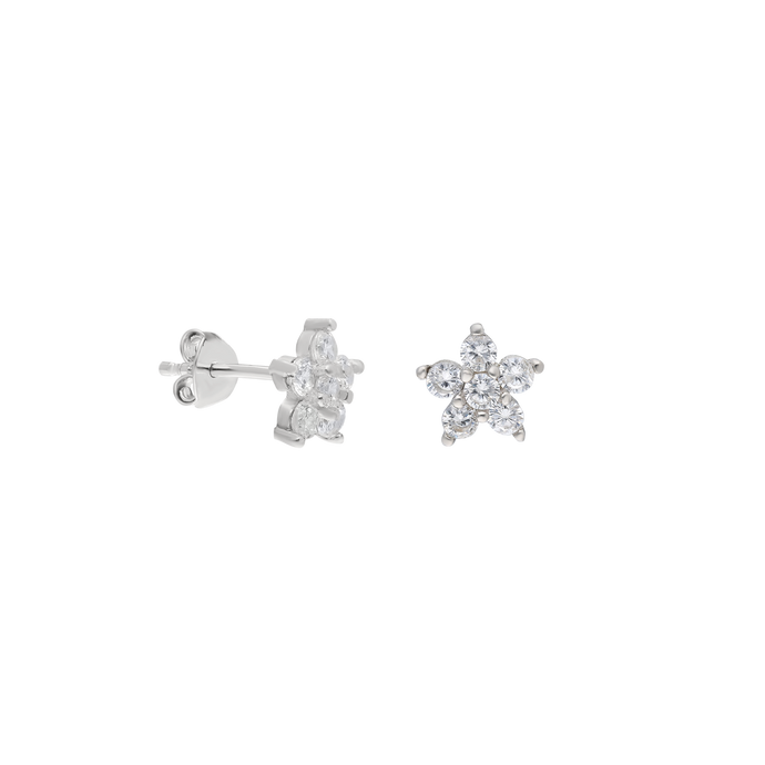 Earrings Venere White on Silver