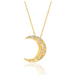 Necklace Bright Moon Gold