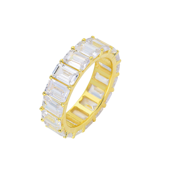Ring Eternity XL White on Gold