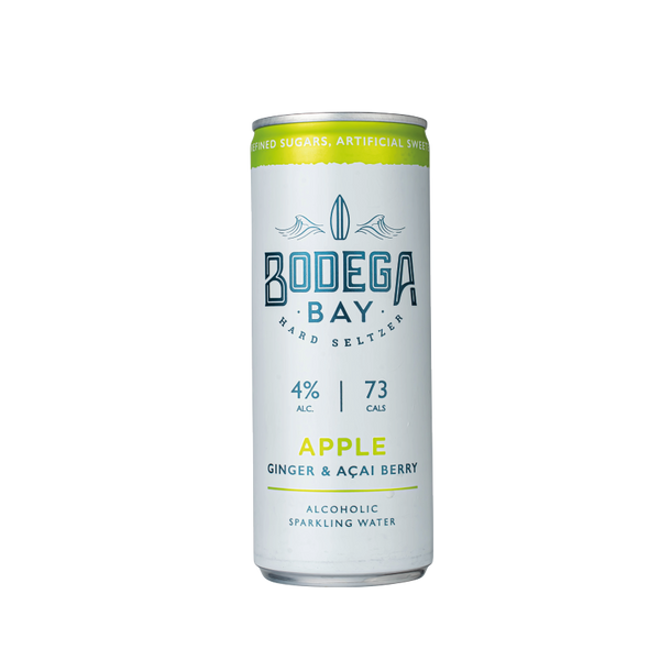 Bodega Bay Hard Seltzer: Apple with Ginger & Açai