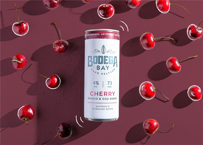 Bodega Bay Hard Seltzer: Cherry with Mango & Goji Berry