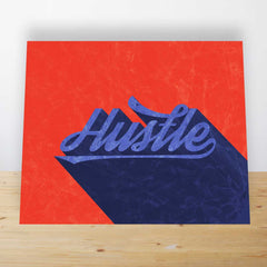 Hustle Mini Desk Art
