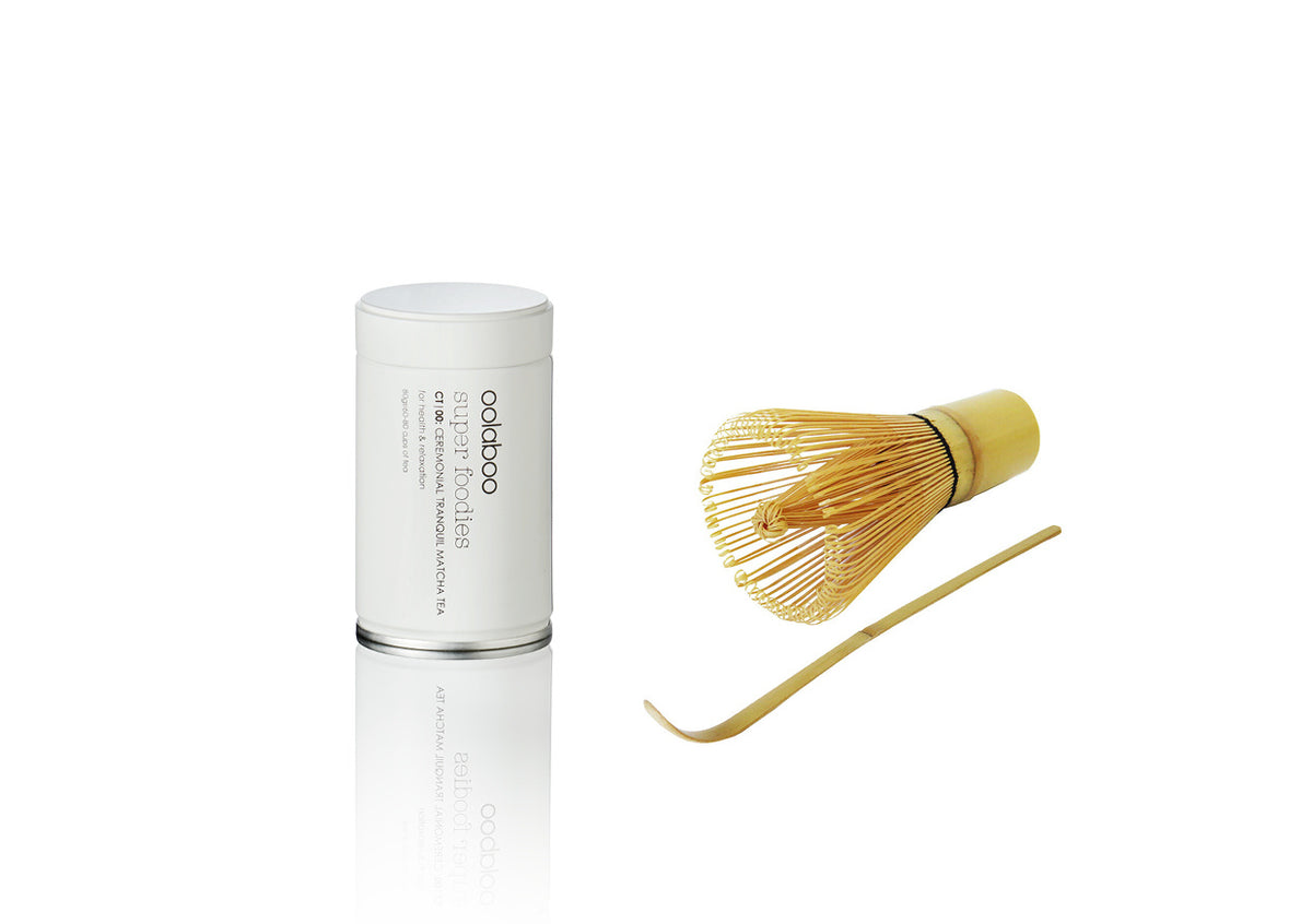 oolaboo ceremonial tranquil matcha tea 80 gr whisk + tools